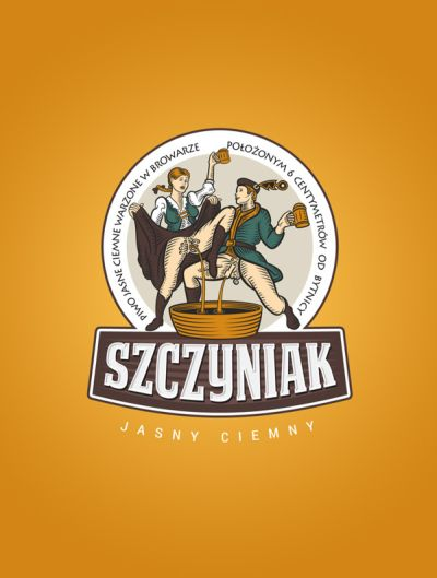Piwo Szczyniak -- jasne ciemne