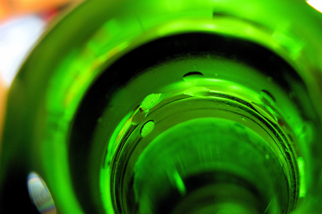 Piwo w zielonej butelce