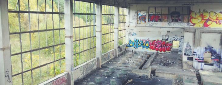 Opuszczone zakłady Polifarb