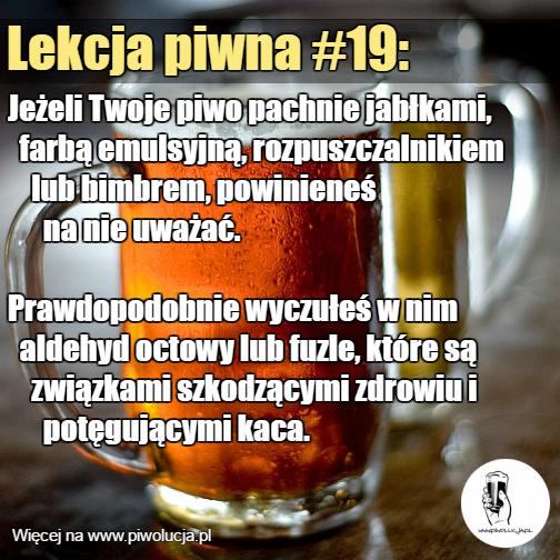 Rozpuszczalnik w piwie
