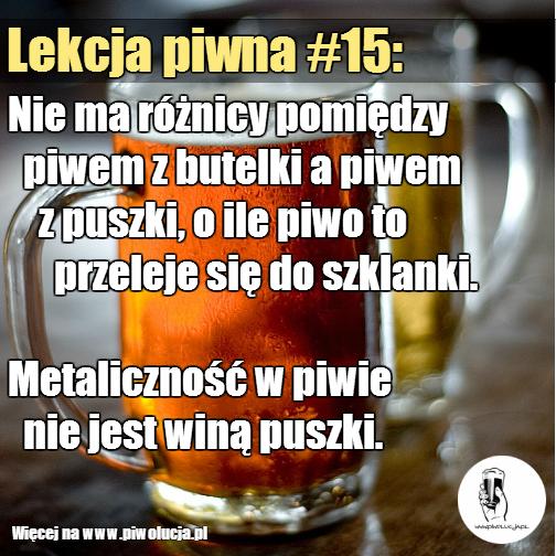 Metaliczny smak piwa