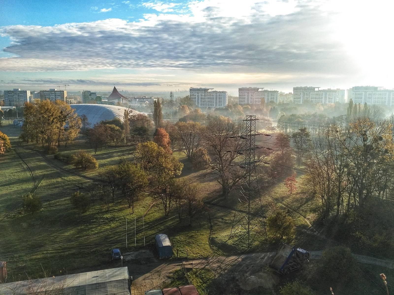 Widok na Park Jana Pawła II w Gdańsku