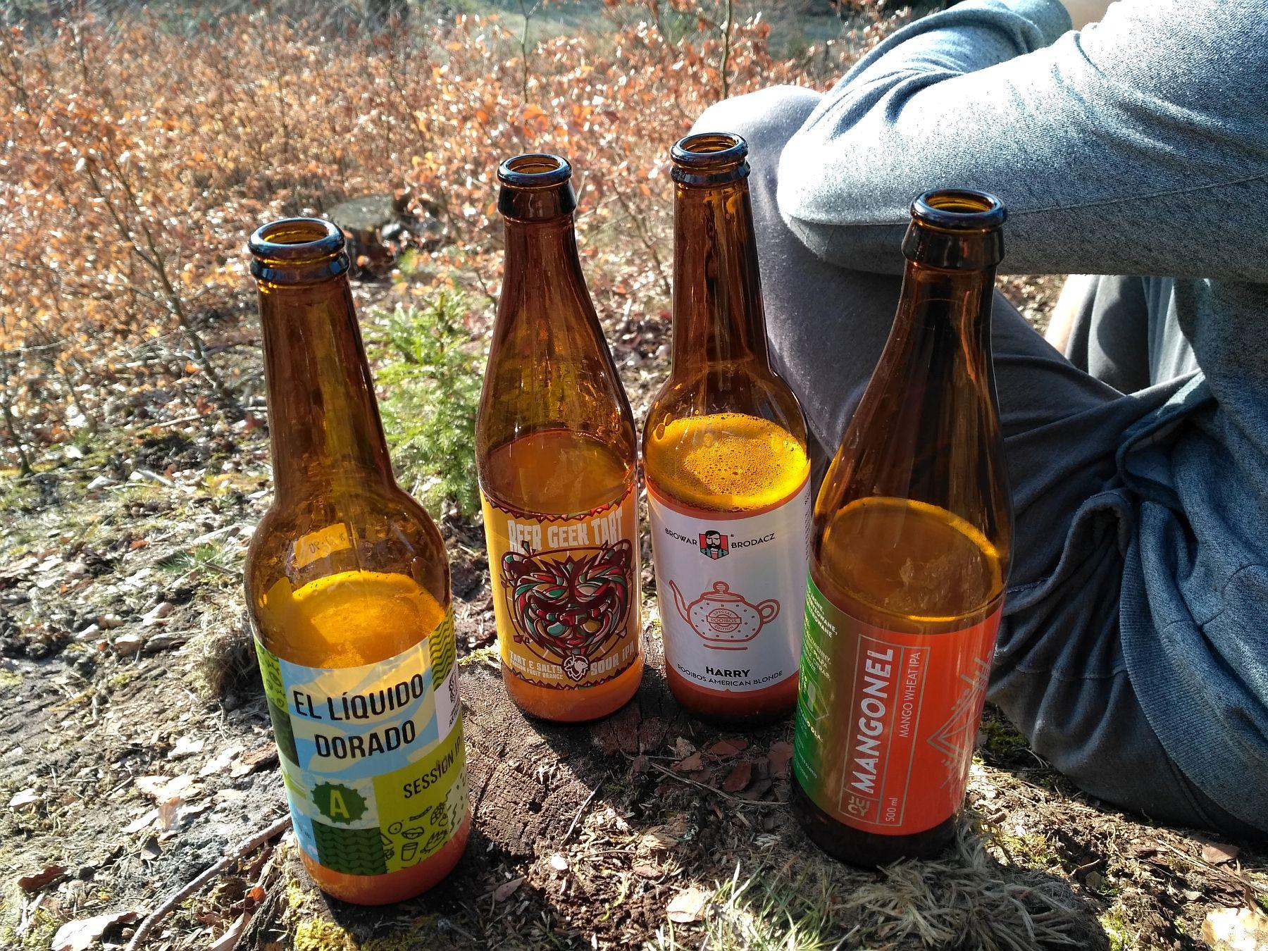 Piwa rzemieślnicze w lesie