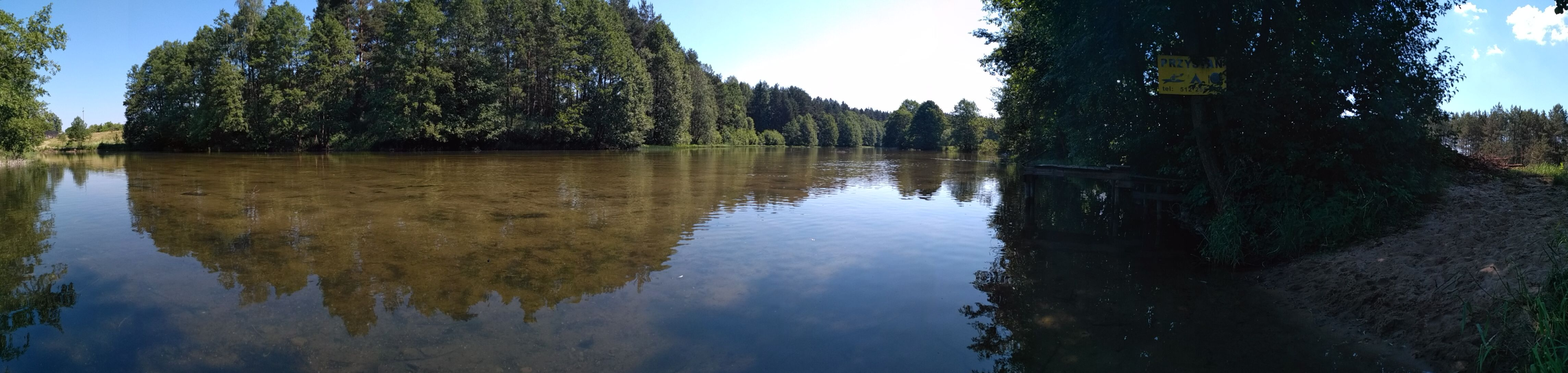 Panorama rzeki Wdy