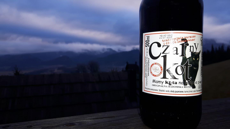 Czarny Kot - etykieta piwa