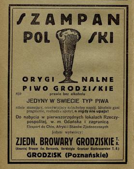 Piwo Grodziskie - szampan Polski