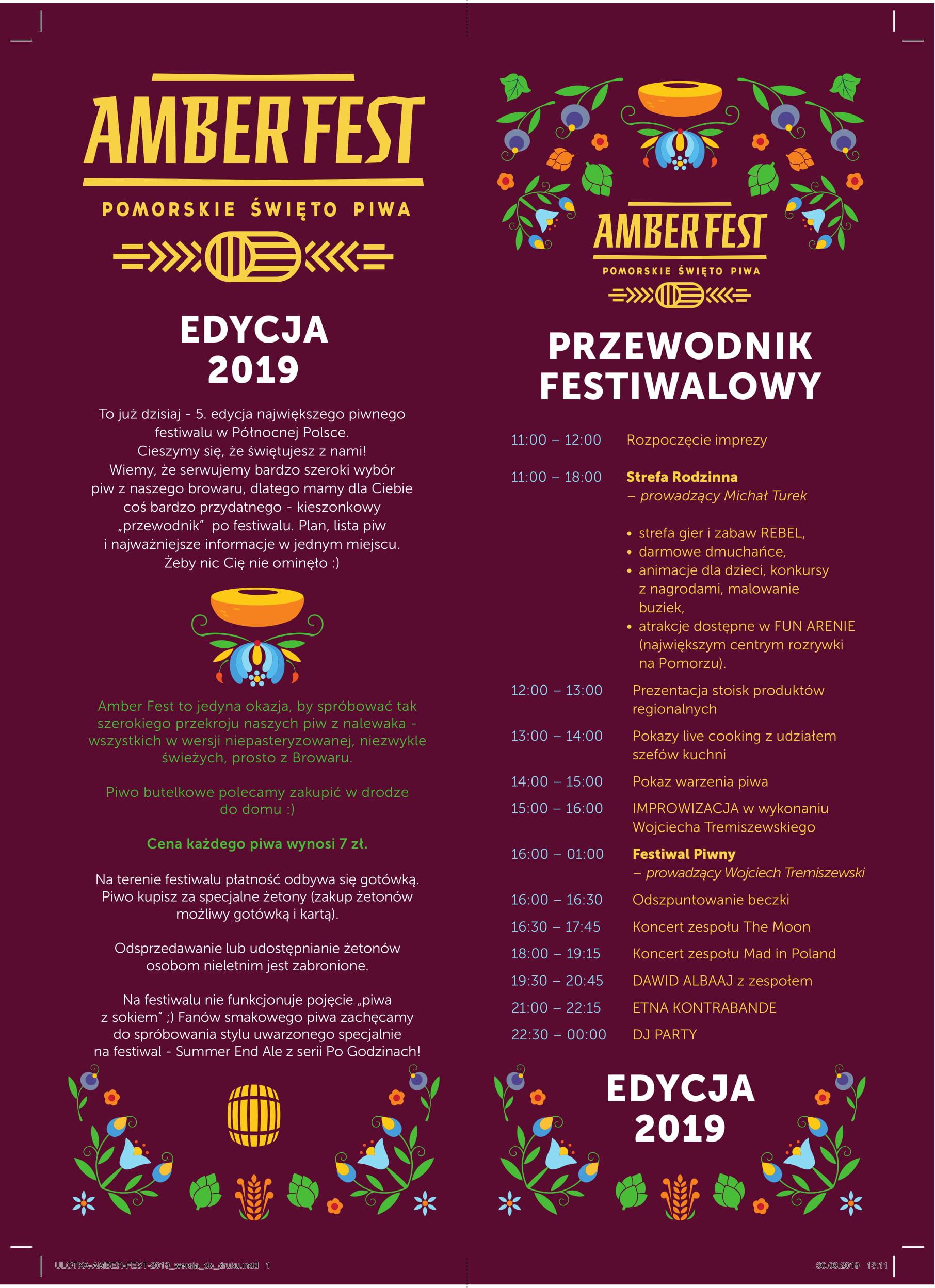 Amber Fest 2019 - plakat
