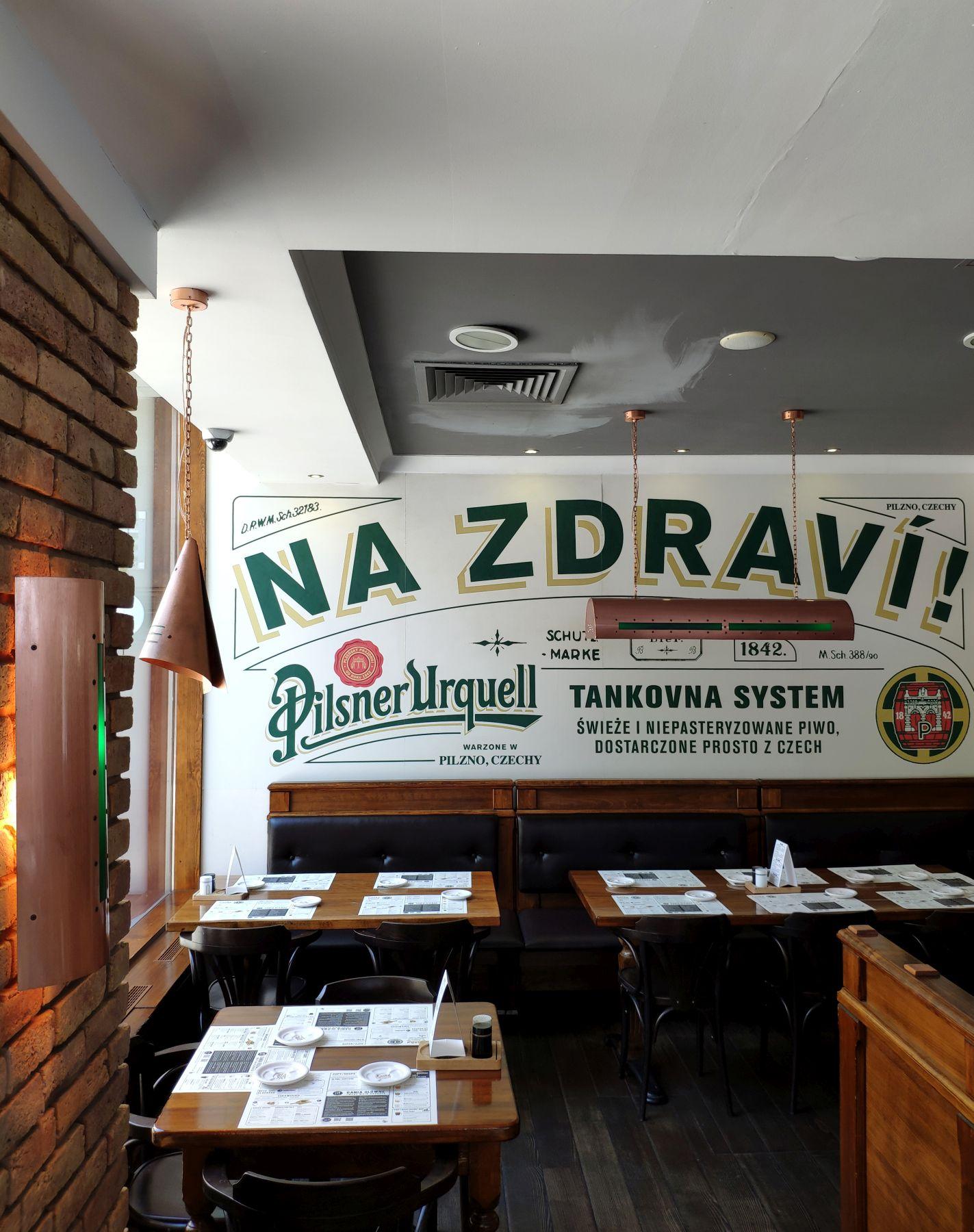 Česká Warszawa - wnętrze